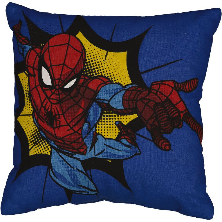 Spider-Man Cushion Boom Red 43cm x 43cm, , hi-res