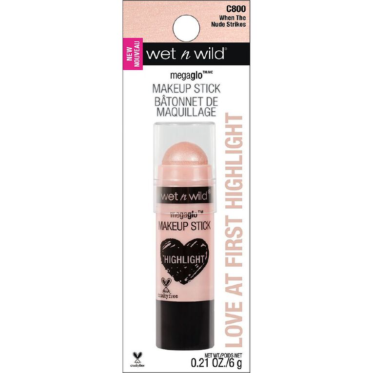 Wet n Wild MegaGlo Makeup Stick Highlighter When The Nude Strikes, , hi-res
