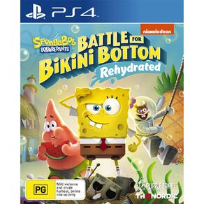 PS4 Spongebob Battle For Bikini Bottom Rehydrated