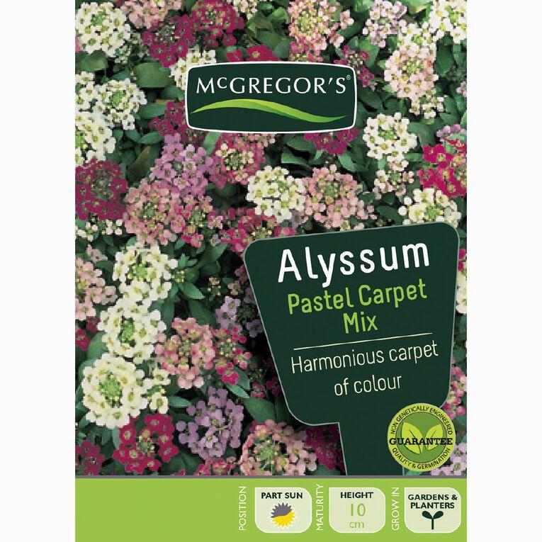 McGregor's Alyssum Pastel Flower Seeds, , hi-res