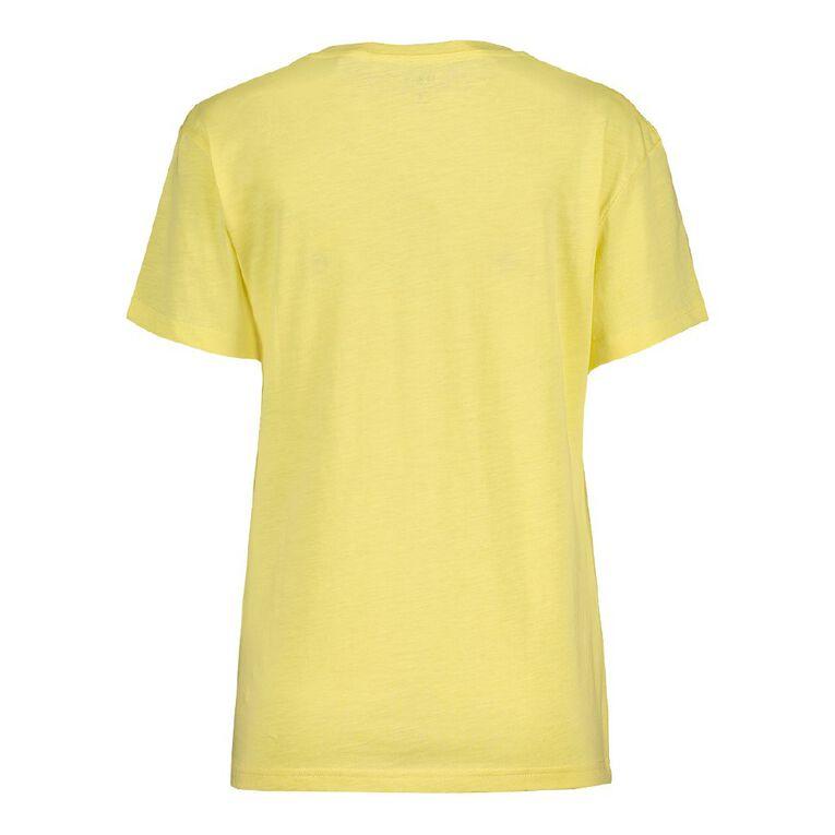 H&H Women's Boyfriend V-Neck Tee, Yellow Light, hi-res