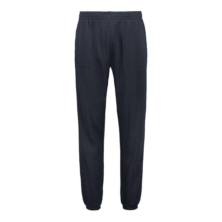 H&H Men's Plain Trackpants, Navy, hi-res