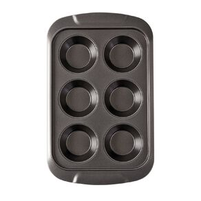 Living & Co Heavy Gauge Non Stick Muffin Tray 6 Cup