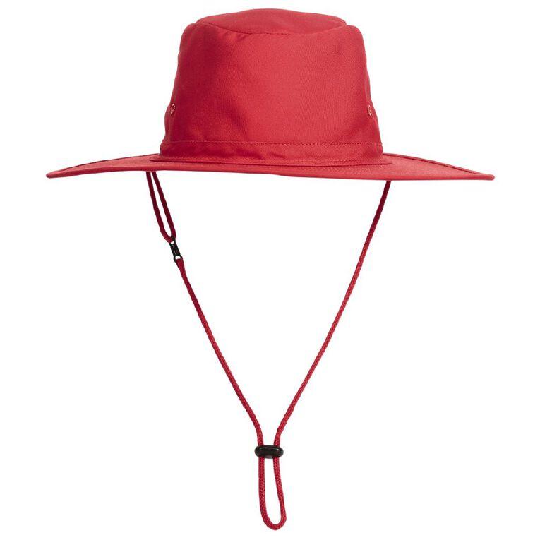 Schooltex Aussie Style Hat, Red, hi-res