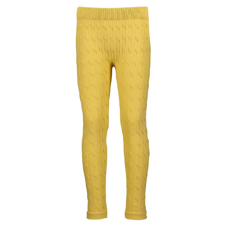 Young Original Cable Leggings, Yellow Mid, hi-res image number null