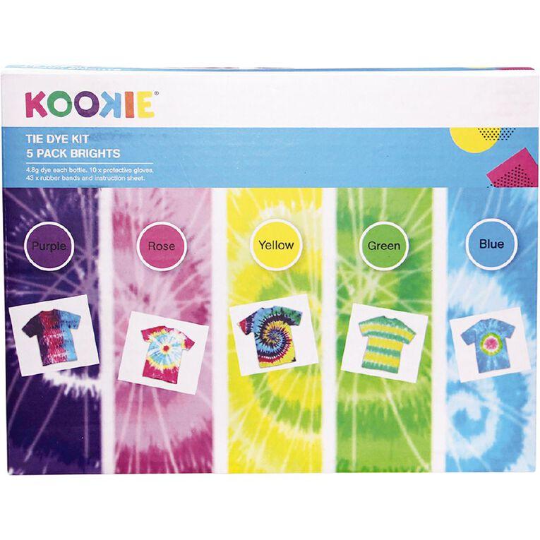 Kookie Tie Dye Kit Bright Multi-Coloured 5 Pack, , hi-res