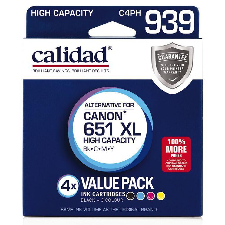 Calidad Canon PGI-651 Photo Blk Cyn Mag Yel 4 Pack, , hi-res