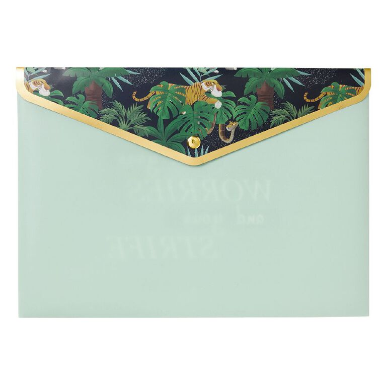 Disney Jungle Book Document Wallet Green A4, , hi-res image number null