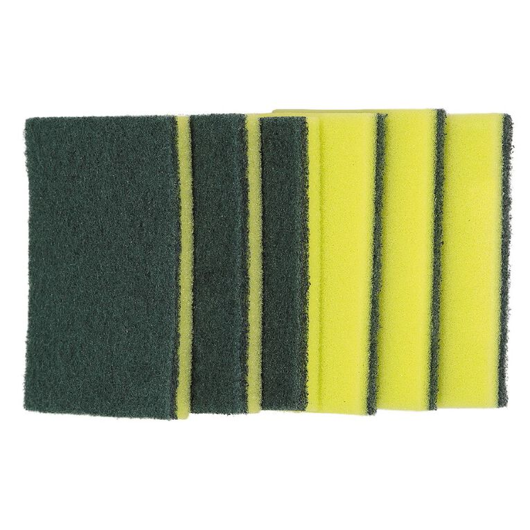 Maxcare Sponge Scourers 6 Pack, , hi-res