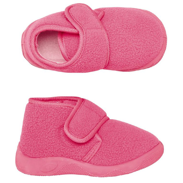 Young Original Kids' Teddy Slippers, Pink, hi-res image number null