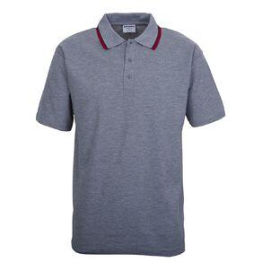 Schooltex Short Sleeve Polo with Stripe Collar