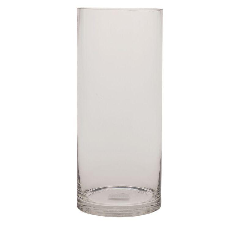 Living & Co Column Vase Clear 35cm, , hi-res