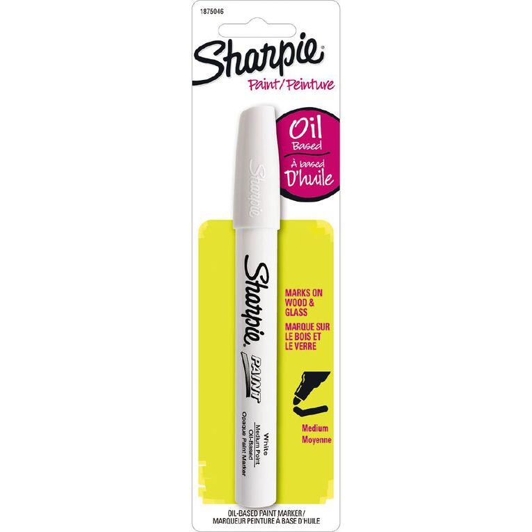 Sharpie Oil-Based Paint Marker Medium Point White - 1-pack, , hi-res