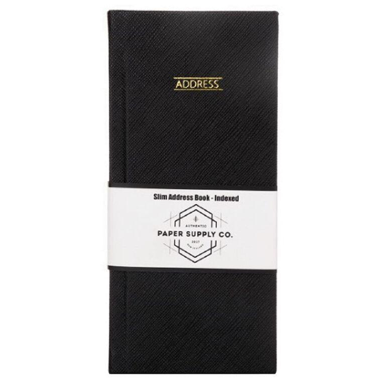 Paper Co Citta Slim Address Book Black, , hi-res