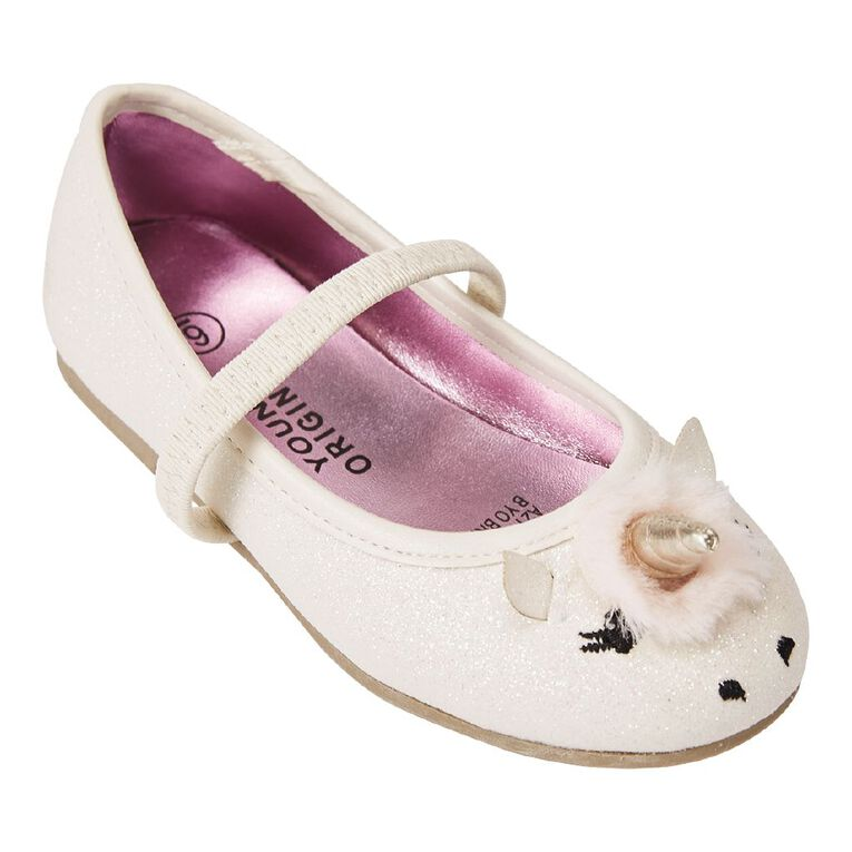 Young Original Britney Ballet Shoes, White, hi-res image number null