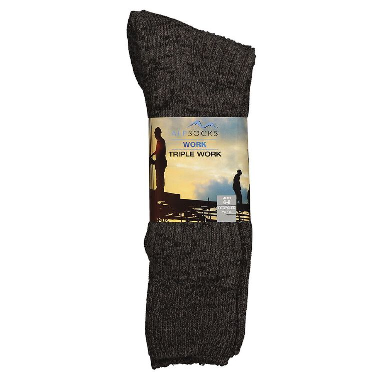 Alpsocks Alpsocks Men's Value Work Socks, Mixed Assortment, hi-res