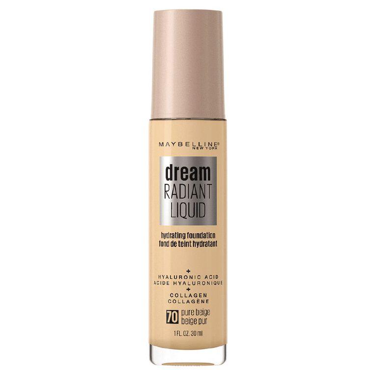 Maybelline Dream Radiant Liquid Foundation Pure Beige, , hi-res