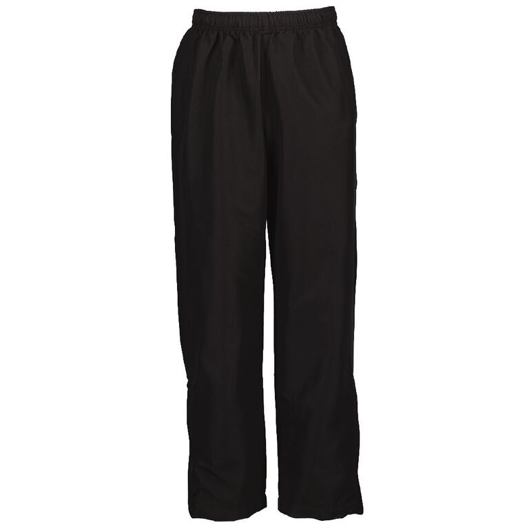 Schooltex Side Zip Fully Lined Trackpants, Black, hi-res