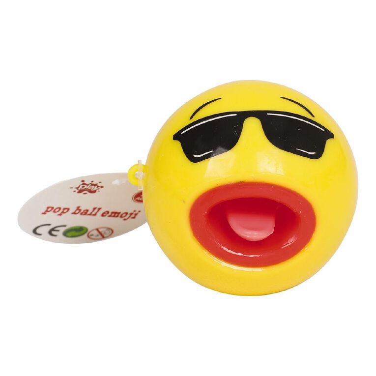 Play Studio Tongue Pop Emoji Ball Assorted, , hi-res