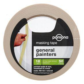 Pomona Masking Tape General Purpose White 18mm x 50m