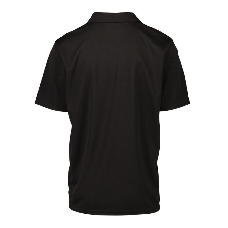 Active Intent Men's Cooldry Polo, Black, hi-res