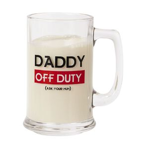 Living & Co Daddy Off Duty Stein Glass Clear