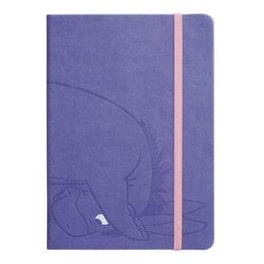 Disney Winnie the Pooh PU Notebook Purple Light A5