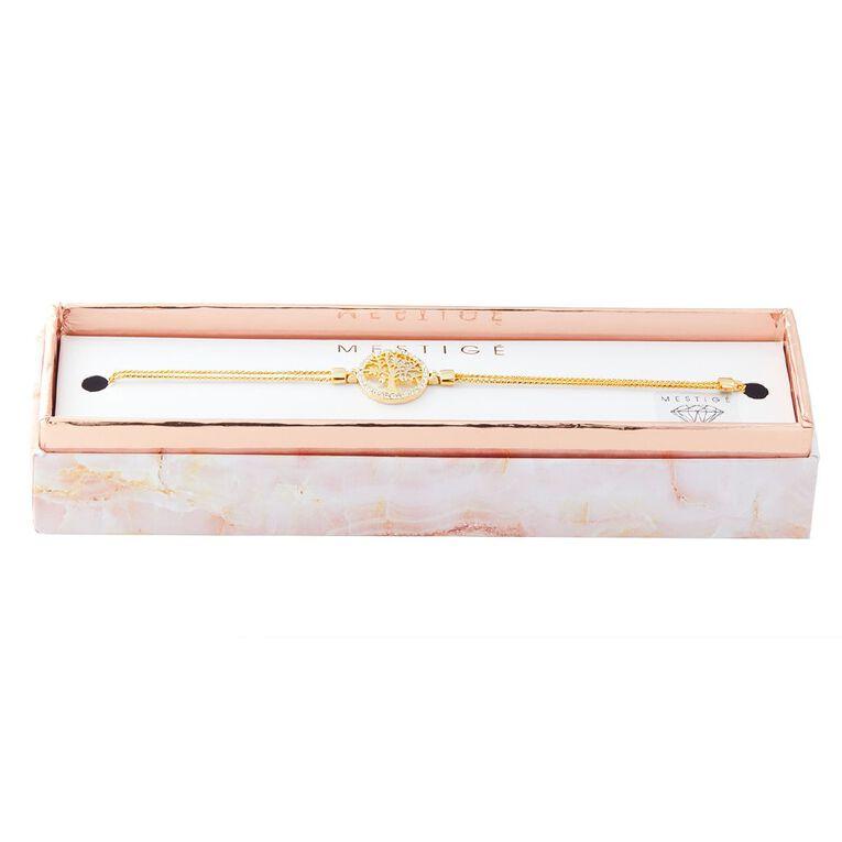 Mestige Gold Plated Swarovski Crystal Tree Of Life Bracelet, , hi-res