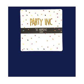 Party Inc Napkins 2Ply 33cm Royal Blue 50 Pack