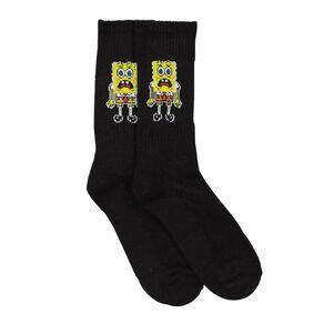 Crazy Socks Men's Rib Crew Socks 1 Pair