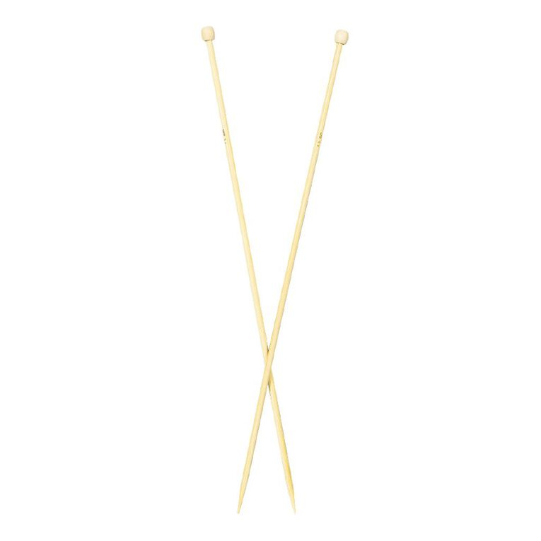 Uniti Knitting Needles Bamboo 4.5mm 35cm Brown 2 Pack, , hi-res