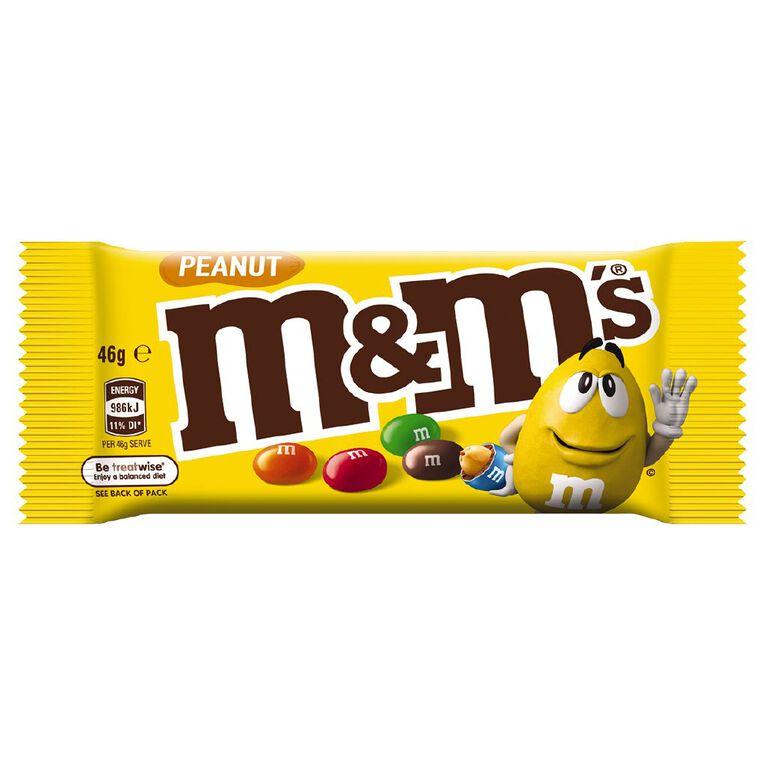 M&M's Peanut Chocolate Singles Bag 46g, , hi-res