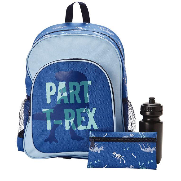 H&H Dinosaur Print Bundle Backpack, Blue Mid, hi-res