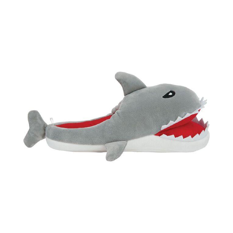 H&H Shark Slippers, Grey, hi-res