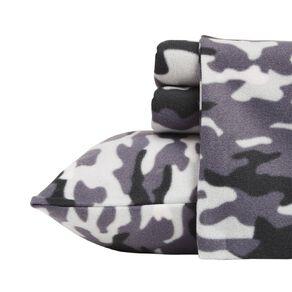 Living & Co Sheet Set Polar Flannel Printed Cadet Grey