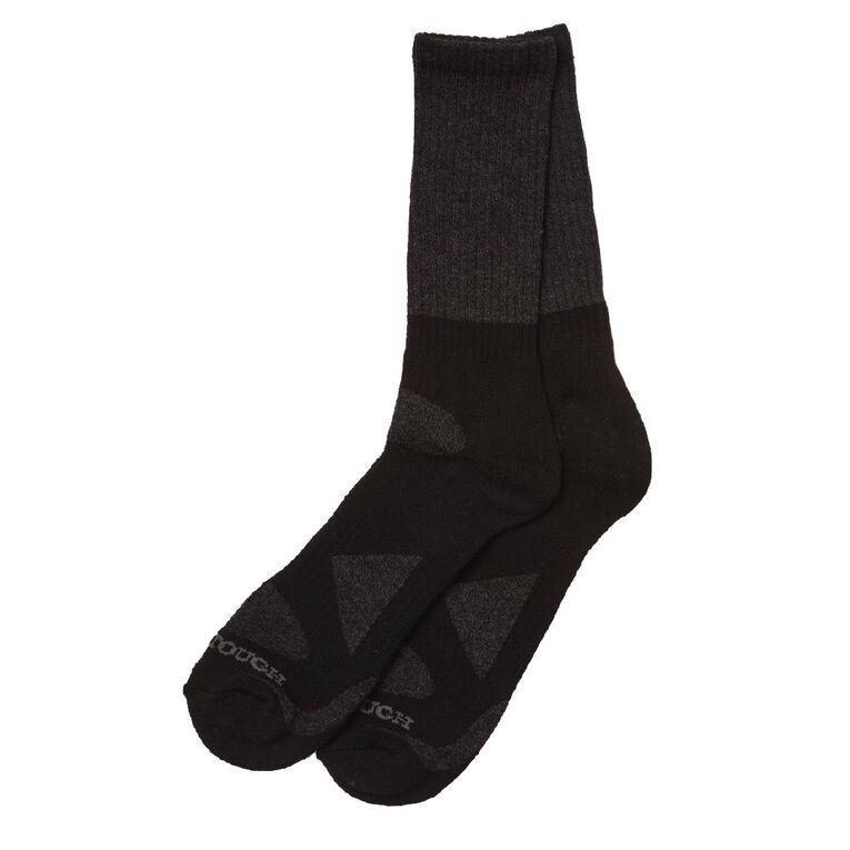 Darn Tough Men's Rib Crew Socks 2 Pack, Black, hi-res