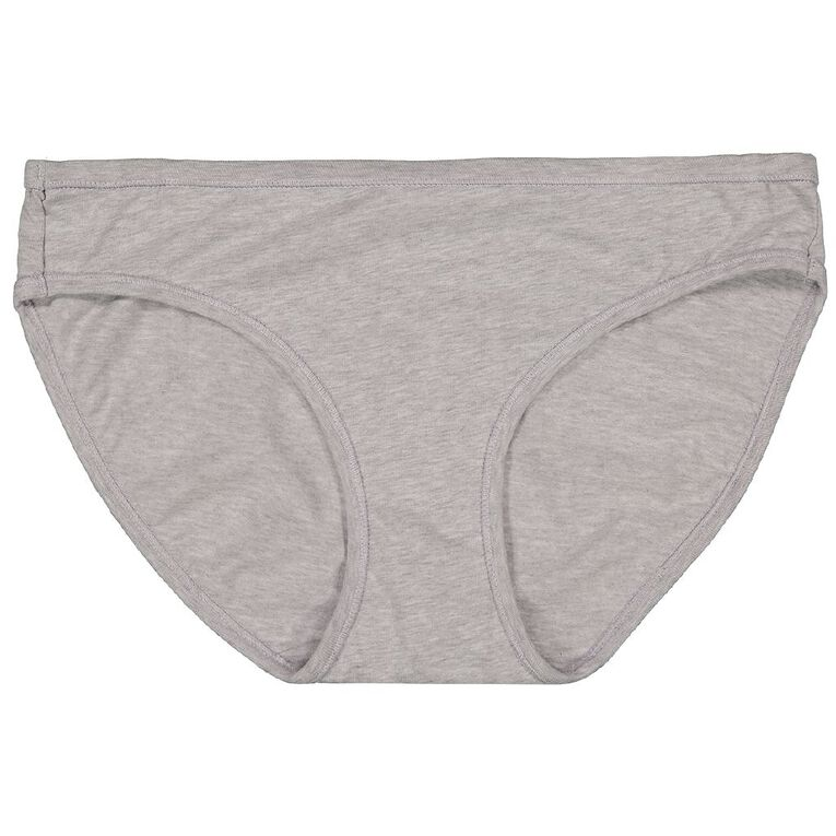 H&H Women's Cotton Comfort Bikini Briefs, Grey, hi-res