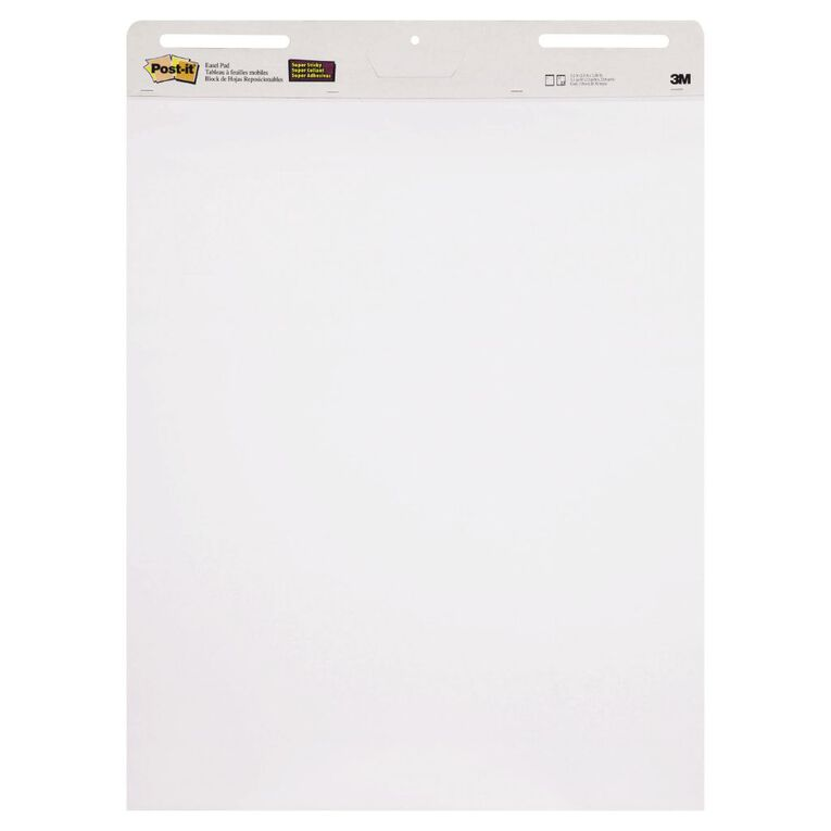 Post-It Easel Pad 559 635mm x 775mm White, , hi-res
