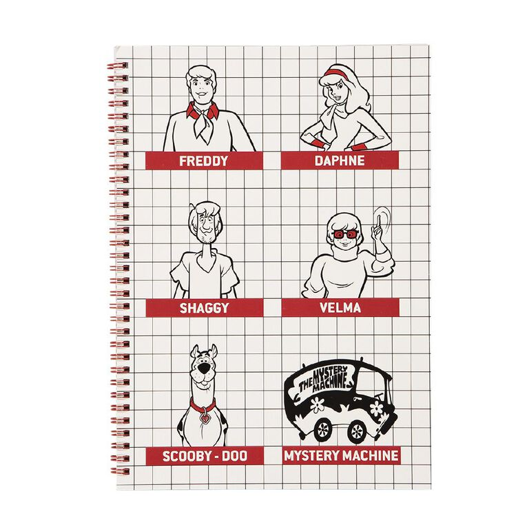 Scooby Doo Spiral Notebook All Characters White A4, , hi-res