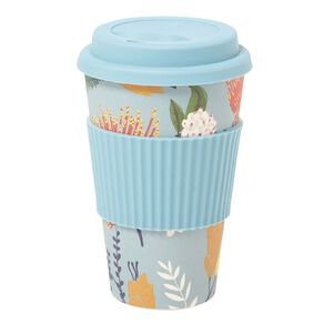 Living & Co Bamboo Travel Cup Kew Kowhai 500ml