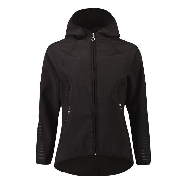 Active Intent Women's Bonded Drop Hem Jacket, Black, hi-res image number null