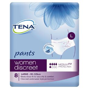 Tena Women's Pants Large 8 Pack