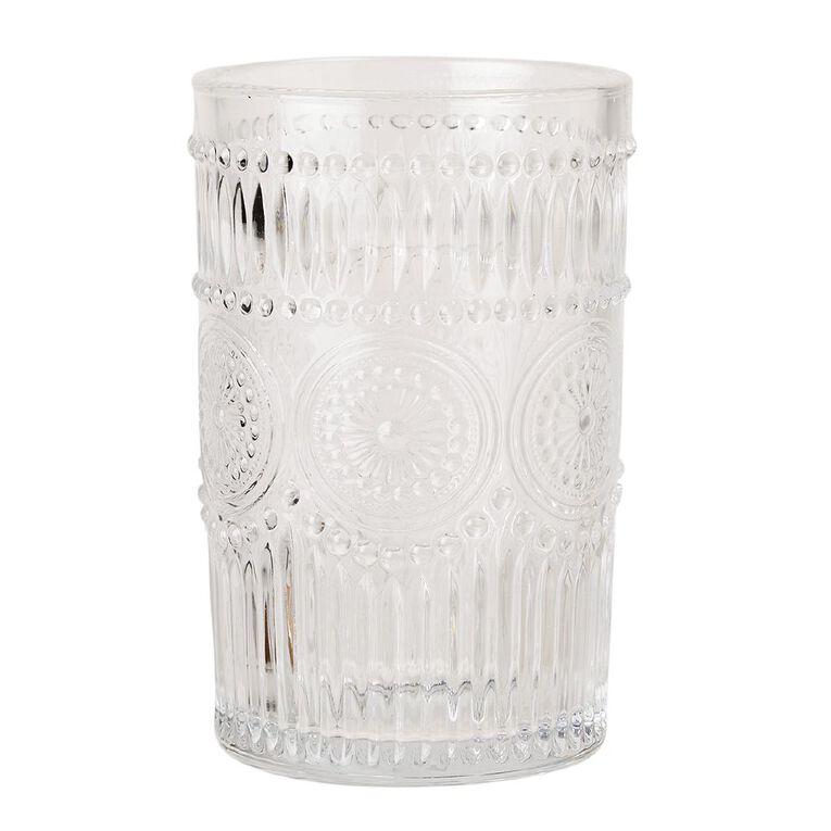 Living & Co Boho Moroccan Hiball Glass 4 Pack, , hi-res
