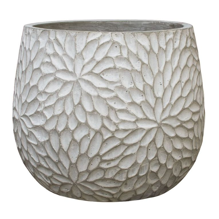 Kiwi Garden Lightweight Cement Pot 30cm, , hi-res