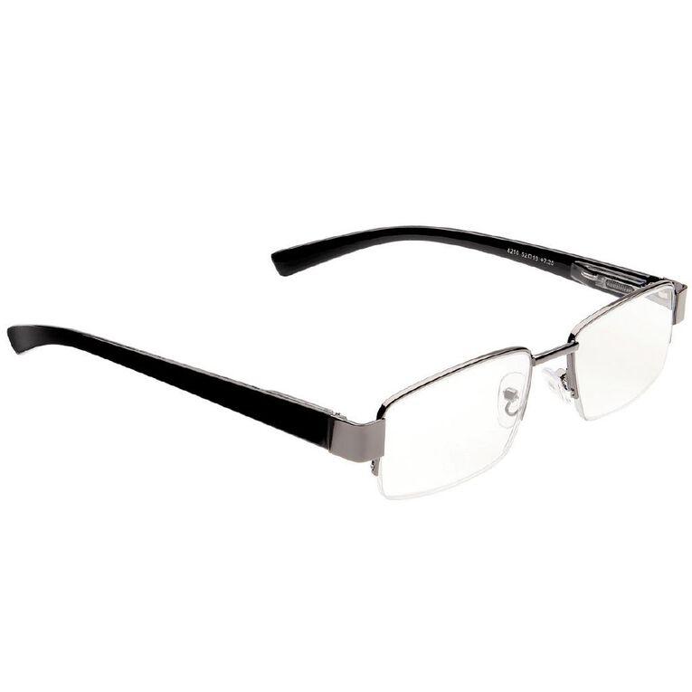 Focus Reading Glasses Half Eye Gunmetal 2.25, , hi-res