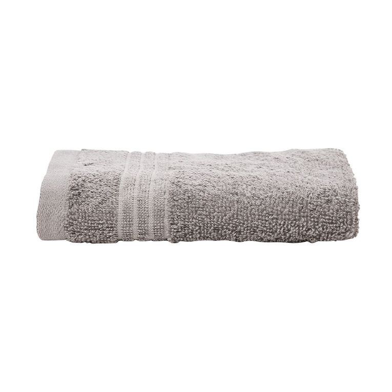 Living & Co Manhattan Hand Towel Alloy Grey 55cm, Grey, hi-res