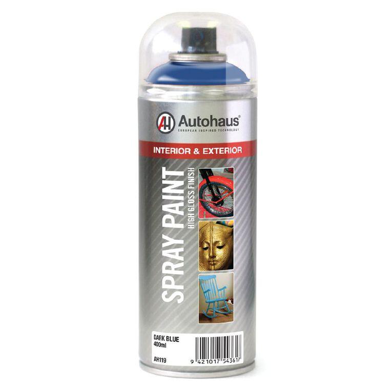 Autohaus Spray Paint Blue Dark 400ml, , hi-res