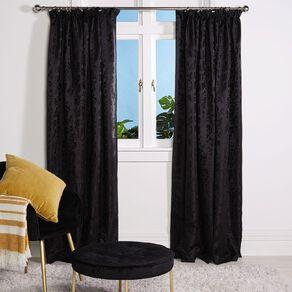 Living & Co Chateau Curtains Black 150-230cm Wide/160cm Drop