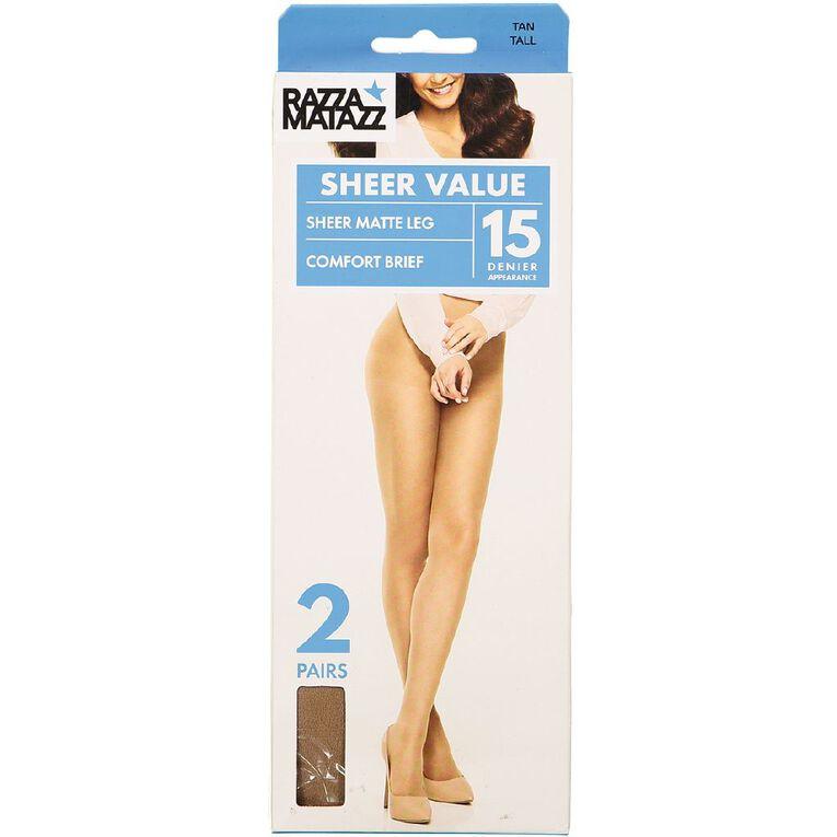 Razzamatazz Comfort Brief Sheers 2 Pack, Tan, hi-res