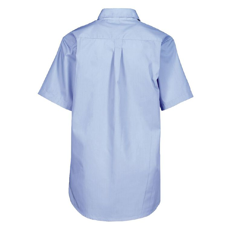 Schooltex St Mary's Hastings New Short Sleeve Shirt with Embroidery, Blue, hi-res